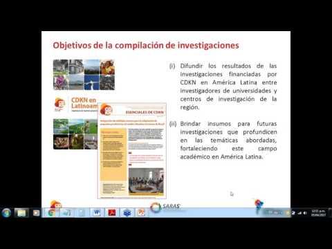 Webinar CDKN  Investigación Que Aporta A La Acción Climática En America Latina