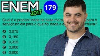 🔥 ENEM 2017 Matemática #44 👉 Probabilidade de Atrasar na Ida ao Trabalho