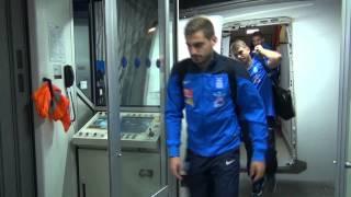 Άφιξη Εθνικής Ανδρών στο Ελ. Βενιζέλος - 12/10/14 | Arrival at El.Venizelos