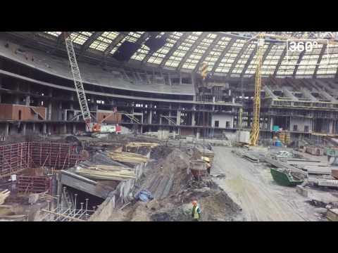 Стадион Лужники. Было-стало.
