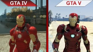 THE BIG GTA COMPARISON 5   GTA IV vs. GTA V IRON MAN MODS   PC   ULTRA