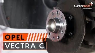 Kuinka vaihtaa takapyörän laakerit OPEL VECTRA C -merkkiseen autoon