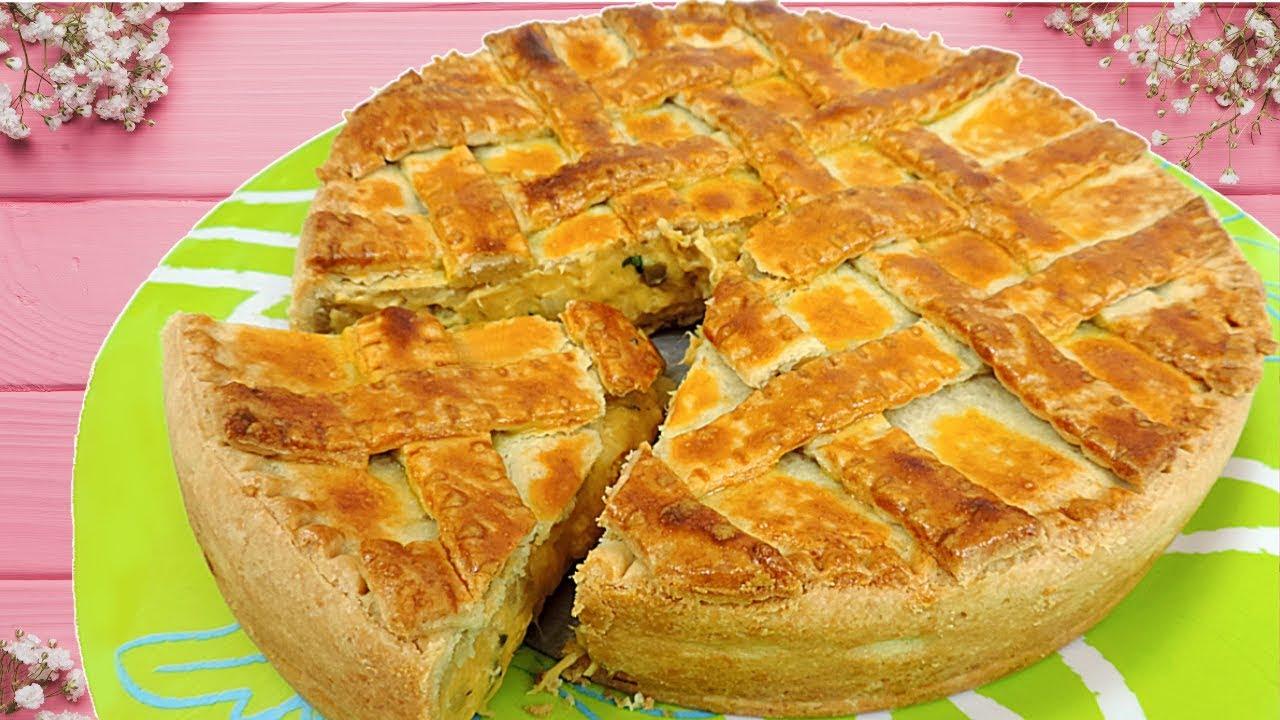 Torta de Frango Cremoso - Decorada e Trançada
