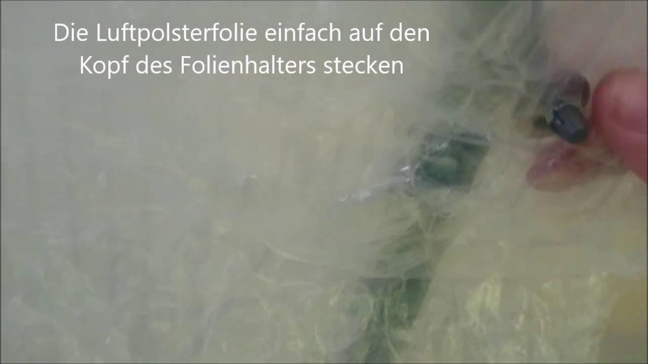 Gewachshaus Isolierung Mit Luftpolsterfolie Von Hunecke Youtube