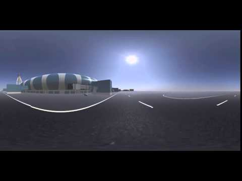 360 VR video for CHROME - rendered in a 3D environment