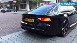 Audi RS7 VS Audi RS6 with Akrapovic exhaust system