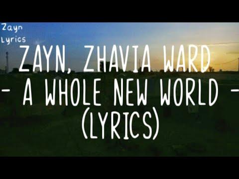 """ZAYN, Zhavia Ward - A Whole New World (Lyrics)😒 (End Title)(From """"Aladdin"""")"""