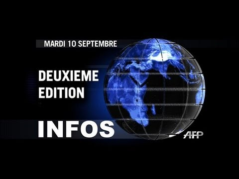 AFP - Le JT, 2e édition du mardi 10 septembre. Durée: 01:34