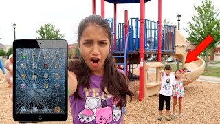 Broken Iphone Prank IRL! Kids Pretend Play