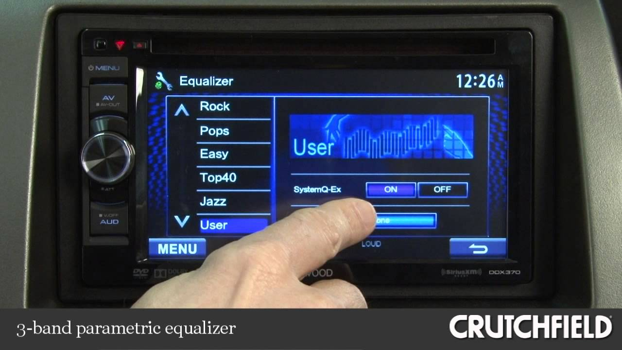 Kenwood DDX370 DVD Receiver Display and Controls Demo