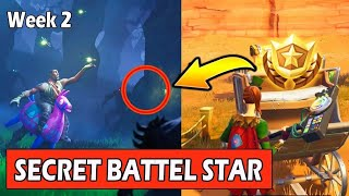 SECRET BANNER WEEK 2 SEASON 6 LOCATION! - Fortnite Battle Royal - WEEK 2 SECRET BATTLE STAR REPLACE