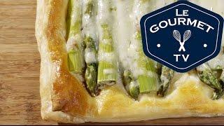 Asparagus Gruyere Tart Recipe - LeGourmetTV
