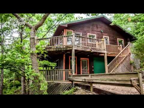 Lakefront Auction: 3 Bedroom Lake Home On Acreage   Lake Of The Ozarks, MO