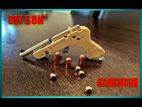 How To Make  Gun,  Wood  Toy  - DIY IDEAS. - INCREDIBLE HOMEMADE INVENTIONS. -HANDCRAFT - REVOLVER