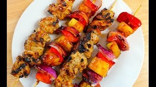 Barbecue Chicken And Pineapple Skewers Recipe