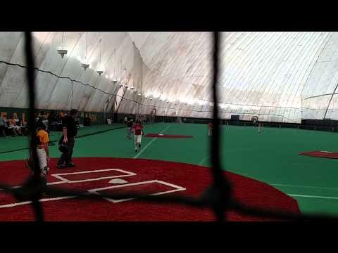 Andrew hits home run at Diamond Nation.