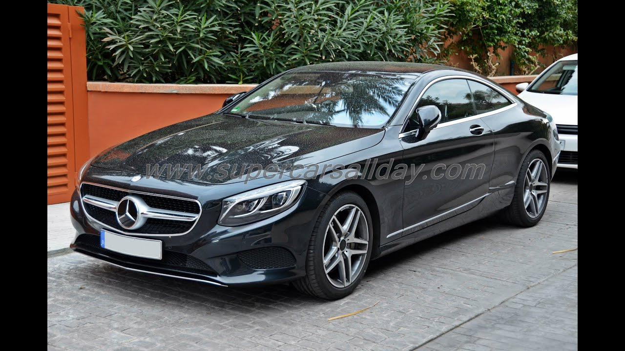 2015 mercedes benz s class coupe spy shots completely undisguised with interior youtube. Black Bedroom Furniture Sets. Home Design Ideas