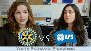 rotary youth exchange vs afs