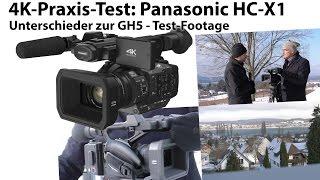 4K-Praxis-Test: Panasonic HC X1 - Unterschiede zur GH5 - Test-Footage