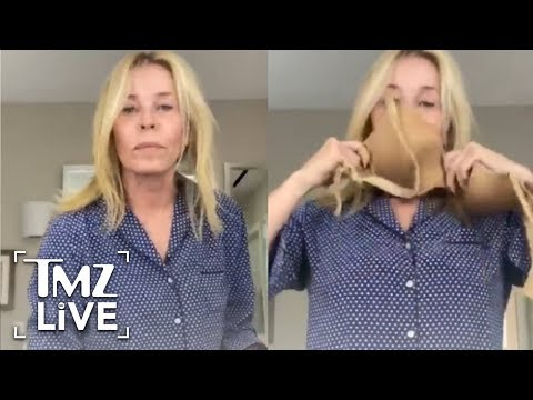 chelsea-handler-turns-her-bra-into-a-face-mask-in-diy-tutorial- -tmz-live