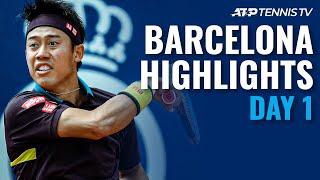 Nishikori vs Pella; Tsonga, Andujar & Chardy In Action | Barcelona Open 2021 Highlights Day 1