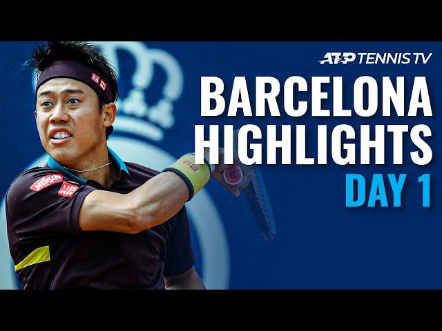 Nishikori vs Pella; Tsonga, Andujar & Chardy In Action | Barcelona Open 2021 Highlights Day 1