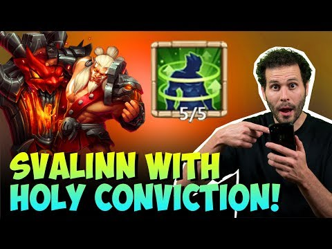 Svalinn Holy Conviction Tested INSANE Heals Castle Clash