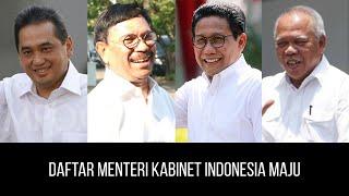 Daftar Menteri Kabinet Indonesia Maju - Joko Widodo