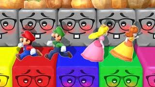 Mario Party 10 MiniGames - Peach Vs Luigi Vs Mario Vs Daisy (Master Cpu)