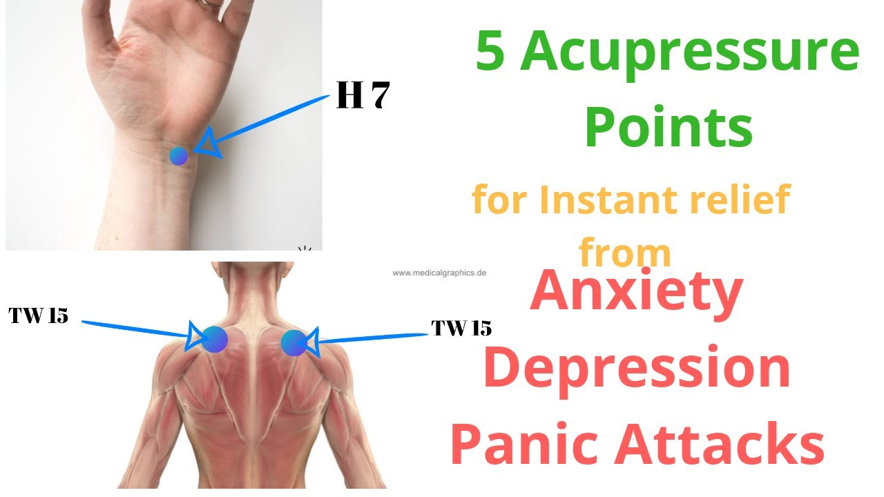5 Acupressure Points For Anxiety and Depression - YouTube