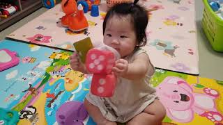 Baby vlog 9개월 아기 장난감 언박싱 행동 언어…