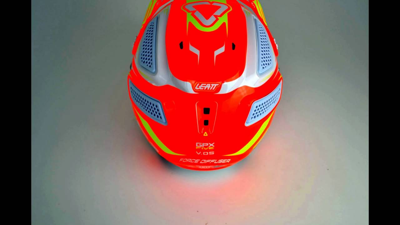 5bc0314d7 2016 Leatt GPX 5.5 V5 Helmet - Orange Yellow White - YouTube
