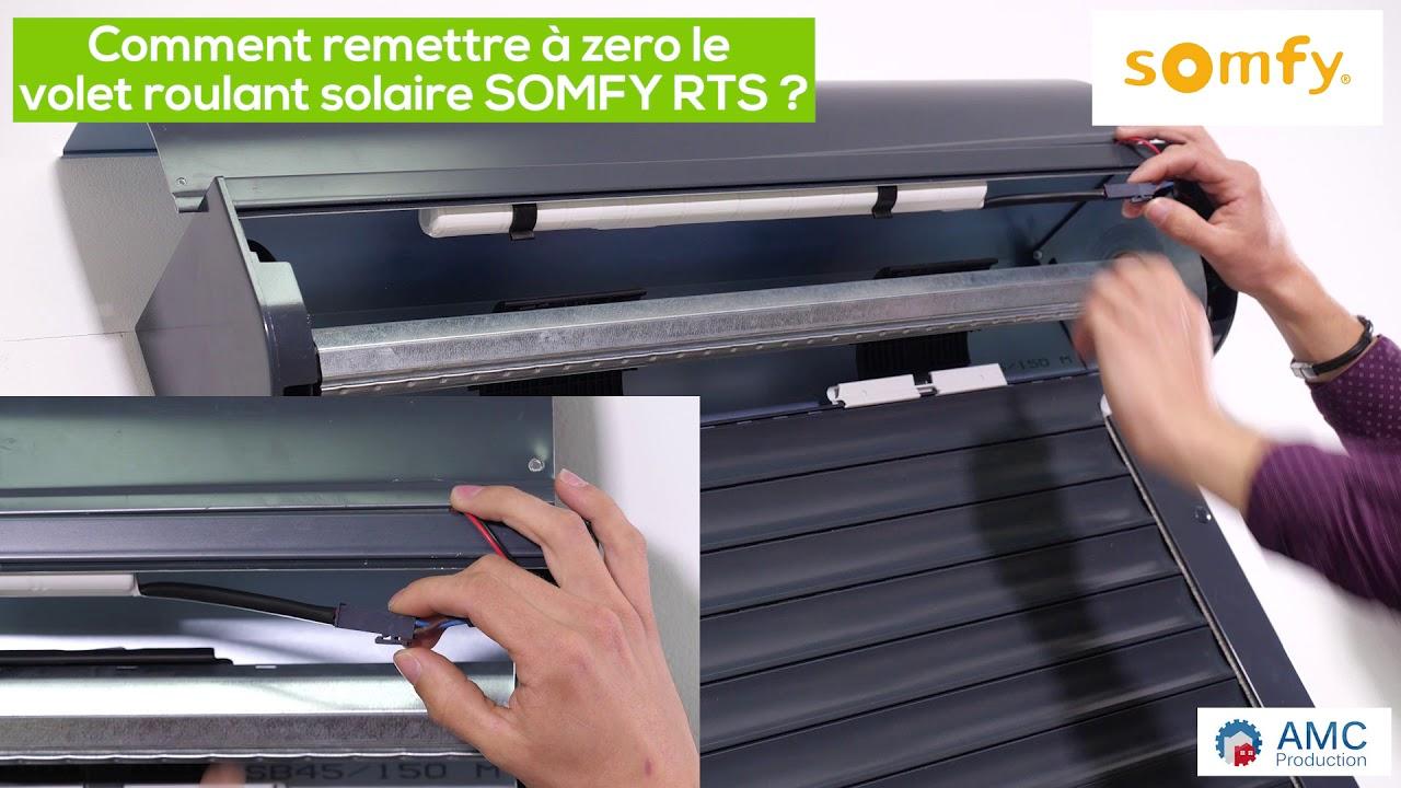 Comment Remettre A Zero Le Volet Roulant Solaire Somfy Rts Youtube