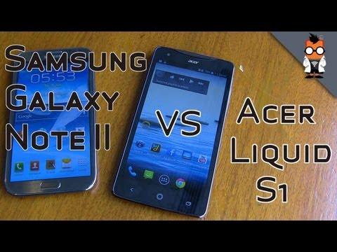 Acer Liquid S1 vs Samsung Galaxy Note 2 - Comparison