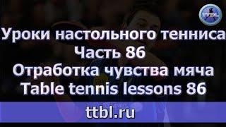 #Уроки настольного тенниса  Часть 86  Отработка чувства мяча