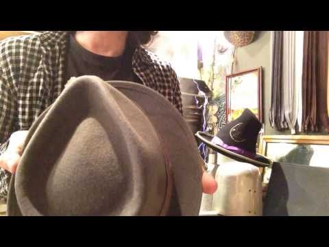KEVIN from JJ HAT CENTER - Shape a Fedora.                  into a Teardrop