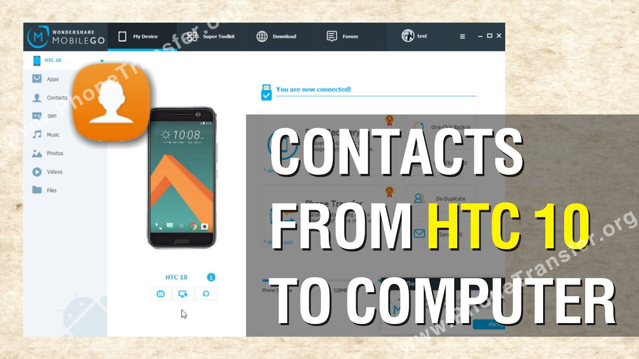 How to backup contacts from HTC Touch 3G