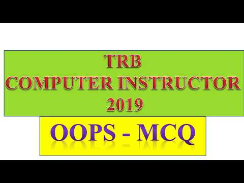 TRB COMPUTER INSTRUCTOR 2019 - MC QUESTIONS AND ANSWERS IN OOPS