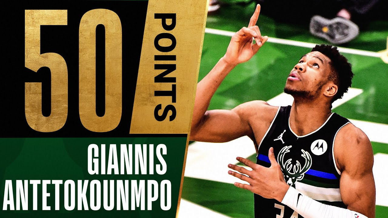 Download Giannis LEGENDARY 50 PTS & 5 BLOCKS in MASTERFUL Close Out Performance 🤯