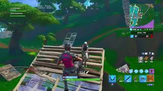 Fortnite battle royale, small clip of getting goated