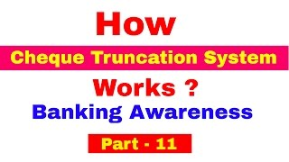 How Cheque Truncation System ( CTS)  works ! Detailed Explanation For Bank PO | Clerk | IPPB PO
