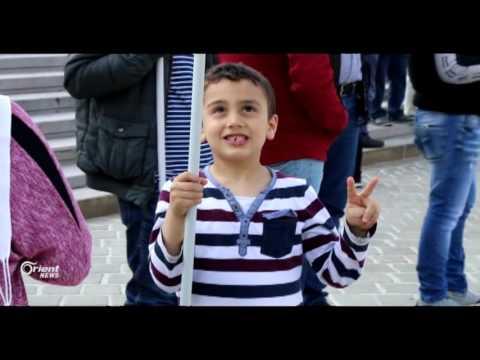 وقفة احتجاجية أمام البرلمان النمساوي تنديدا بجرائم النظام وحلفاءه  - 14:21-2017 / 5 / 22