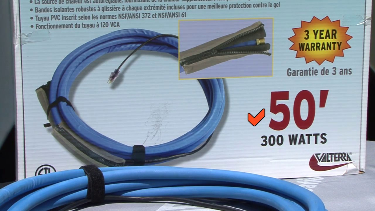 heated rv water hose