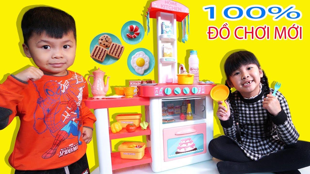 MỞ HỘP ĐỒ CHƠI NẤU ĂN NHÀ BẾP MỚI CỰC YÊU CỦA BÉ BÚN | Play Cooking with New Kitchen Toy