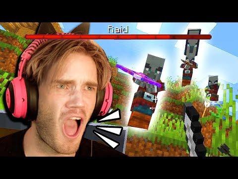 I got RAIDED in Minecraft!!! - Part 8