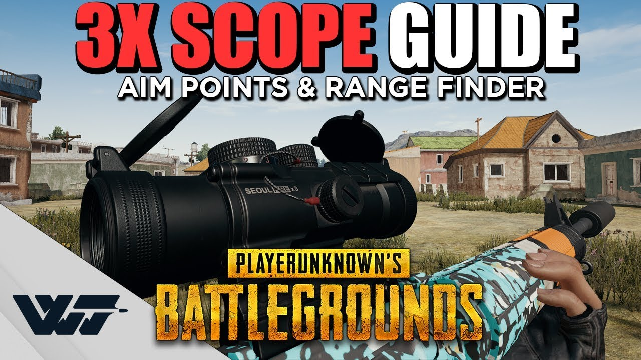 Download GUIDE: How to use the 3X SCOPE! AIM POINTS + RANGE FINDER for 10 different weapons - PUBG