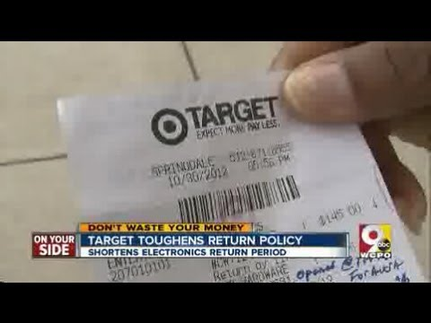 Target has a tough return policy
