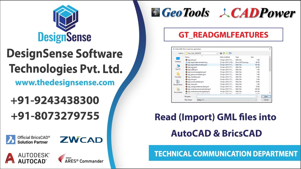 Read (Import) GML files into AutoCAD & BricsCAD - A GeoTools Feature
