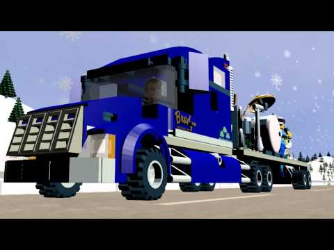 Alabama - Roll On (Eighteen Wheeler) - Animated Lego Music Video