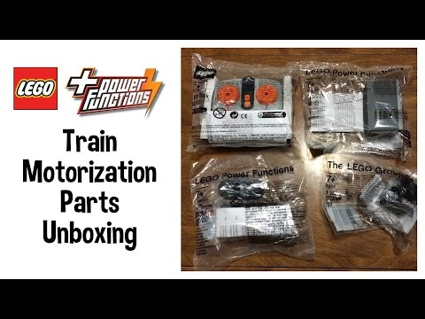 LEGO Power Functions Train Motorization Parts Unboxing